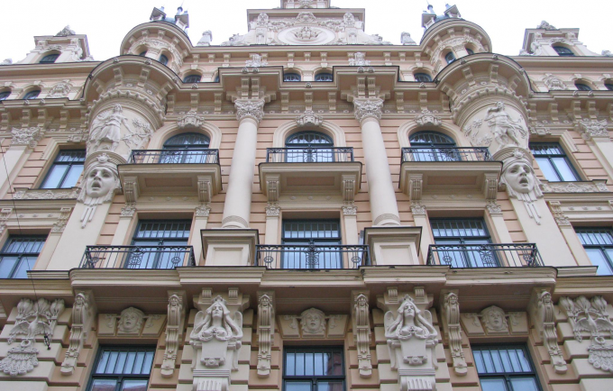 Art nouveau architecture riga this week for Architecture art nouveau