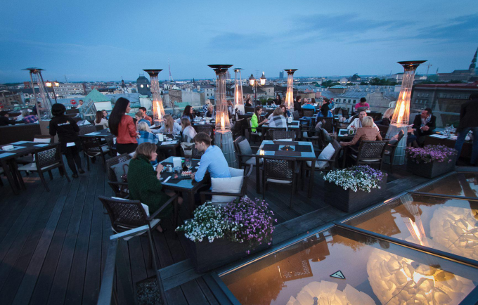 Terrace riga riga this week for Open terrace restaurants