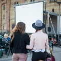 Free open-air cinema in Spīķeri Quarter